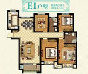 三期22#楼 E1户型 4房2厅2卫
