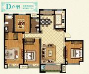 D户型 约178㎡4房2厅2卫