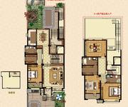 叠拼别墅 1-2层 边户 228㎡户型