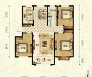 C4户型 3室2厅1卫 129㎡