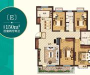 悦湖湾E户型 150㎡ 4室2厅2卫