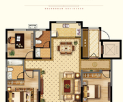 悦·夏沫户型 141㎡ 3室2厅2卫