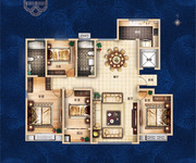 北区6#楼、南区17#、18#、20#尊御户型 189.51㎡ 4室2厅2卫