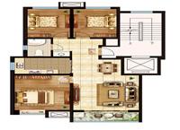 【花半里】105平米三室两厅户型