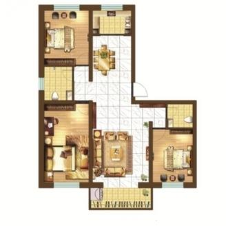 东城中南世纪锦城6楼125平精装3室带车位地下室证满2年急售