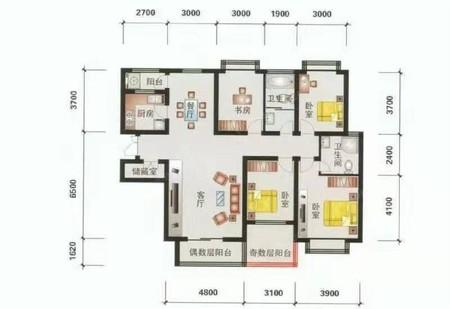 英威花园8楼带20平地下室